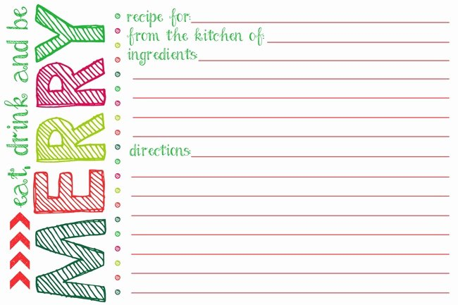 Free Editable Recipe Card Templates Best Of Everything You Need to Know to Host A Holiday Cookie Swap
