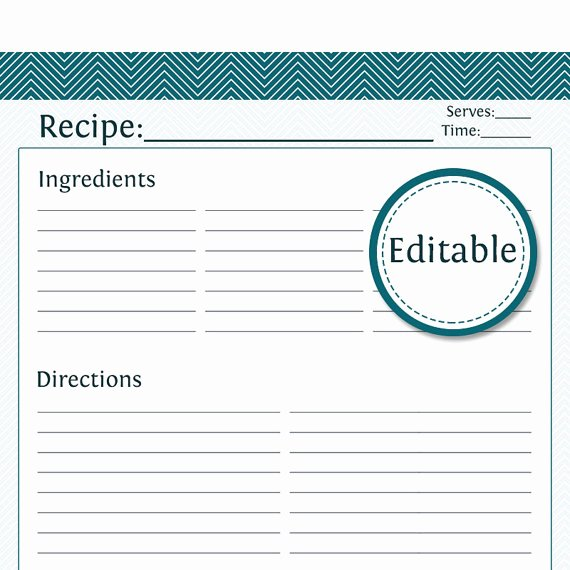 Free Editable Recipe Card Templates Best Of Recipe Card Full Page Fillable Printable Pdf by