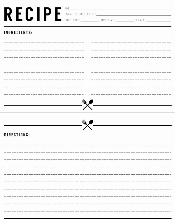 Free Editable Recipe Card Templates Best Of Recipe Template