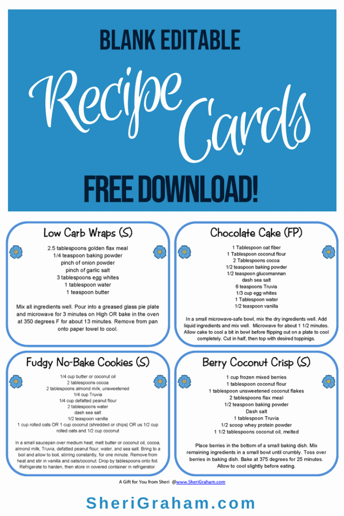 Free Editable Recipe Card Templates Inspirational Blank Editable Recipe Cards 1 2 & 4 Card Versions Free