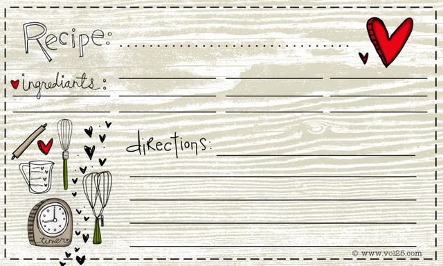 Free Editable Recipe Card Templates Inspirational Free for You Recipe Card
