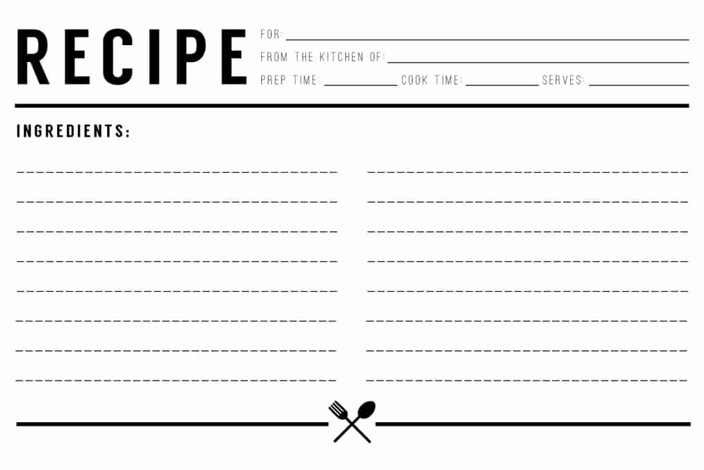 Free Editable Recipe Card Templates Lovely 13 Recipe Card Templates Excel Pdf formats