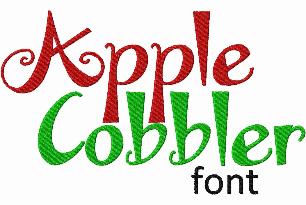 Free Embroidery Fonts Downloads Best Of Free Apple Cobbler Machine Embroidery Font Set – Daily