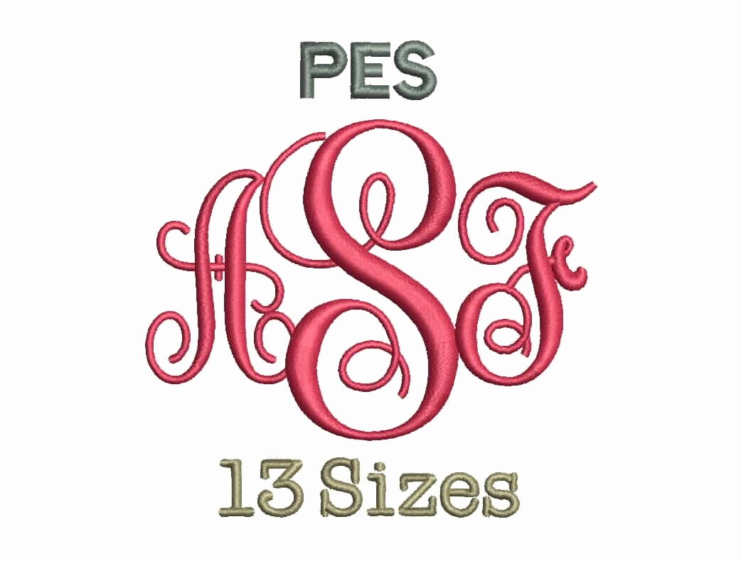 Free Embroidery Fonts Downloads Elegant Interlocking Monogram Font Embroidery Fonts 13 Size Monogram
