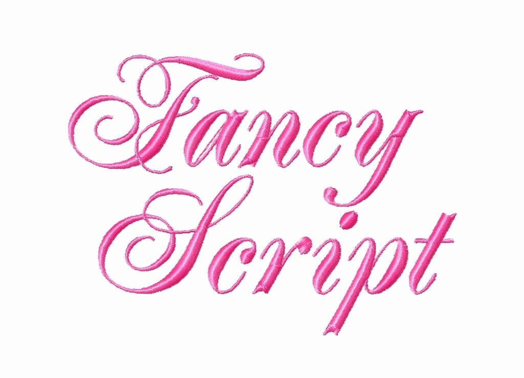 "Free Embroidery Fonts Downloads Lovely Fancy Script Machine Embroidery Font Bx Sizes 2"" 3"" 4"