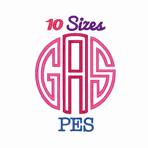Free Embroidery Fonts Pes Awesome Circle Monogram Applique Font Machine Embroidery Fonts Pes