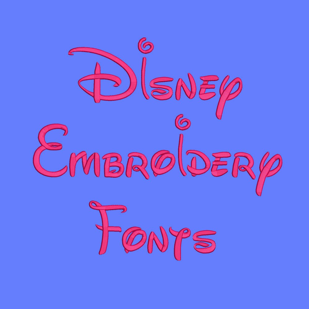 Free Embroidery Fonts Pes Beautiful Disney Embroidery Fonts 5 Sizes Machine Embroidery Font Pes