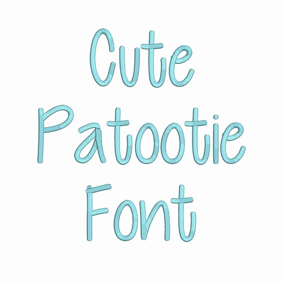 Free Embroidery Fonts Pes Fresh 3 Size Cute Patootie Font Embroidery Fonts Bx Instant Download