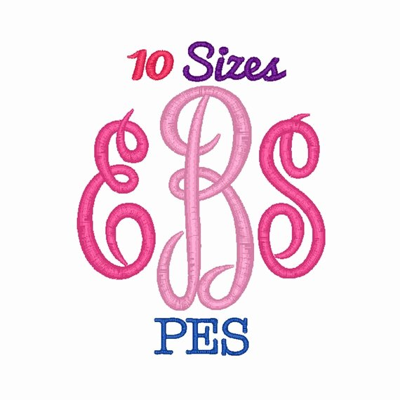 Free Embroidery Fonts Pes New Master Circle Monogram Embroidery Font Machine Embroidery