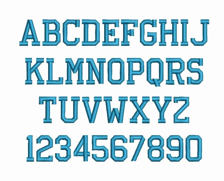 Free Embroidery Monogram Fonts Awesome athletic Block Machine Embroidery Font by Rivermillembroidery