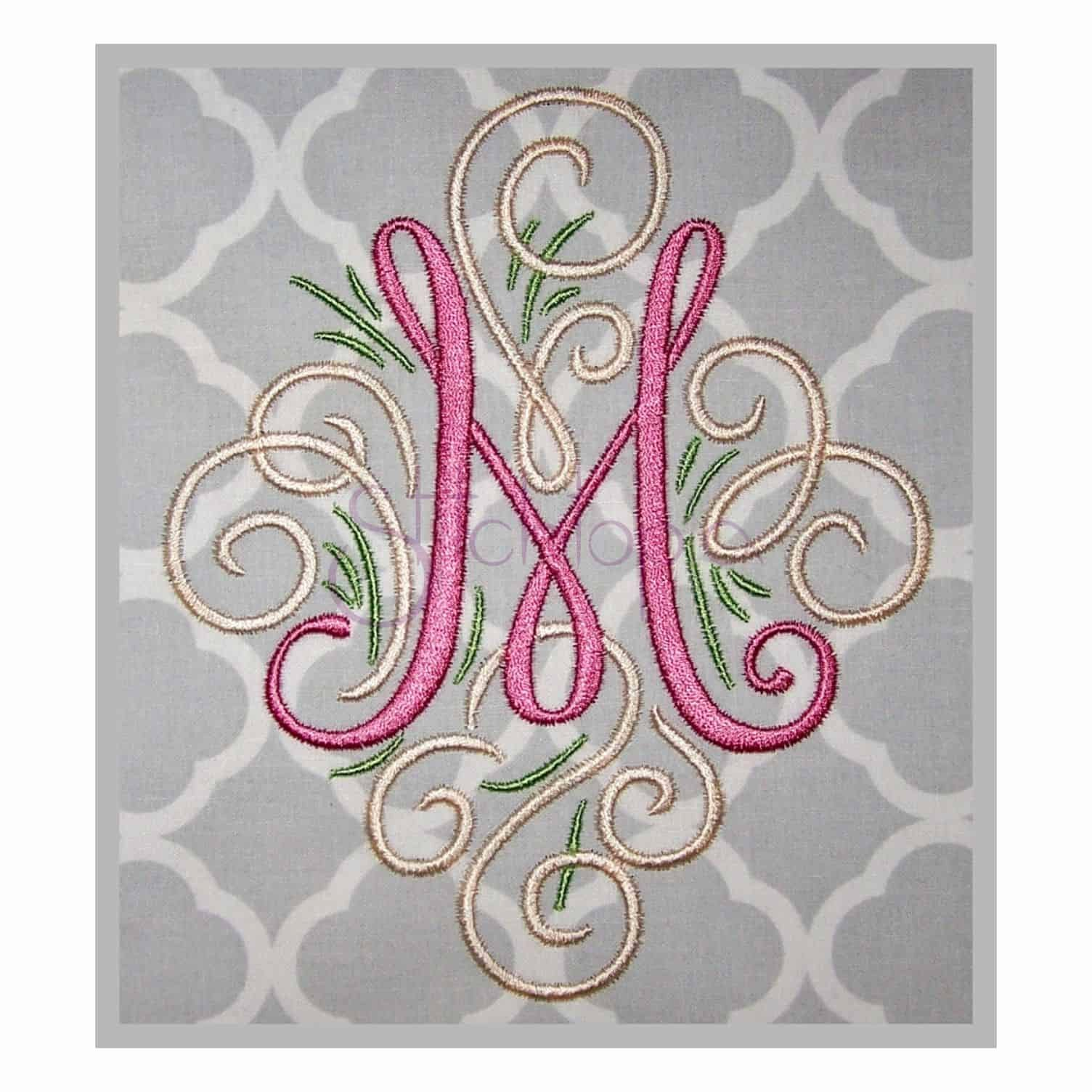 Free Embroidery Monogram Fonts Beautiful Machine Embroidery Font Adorn Monogram