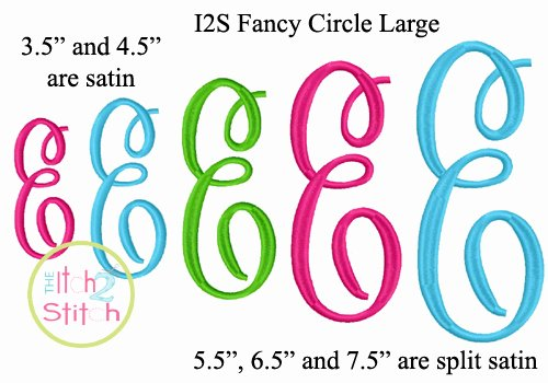 Free Embroidery Monogram Fonts Beautiful Master Circle Embroidery Font
