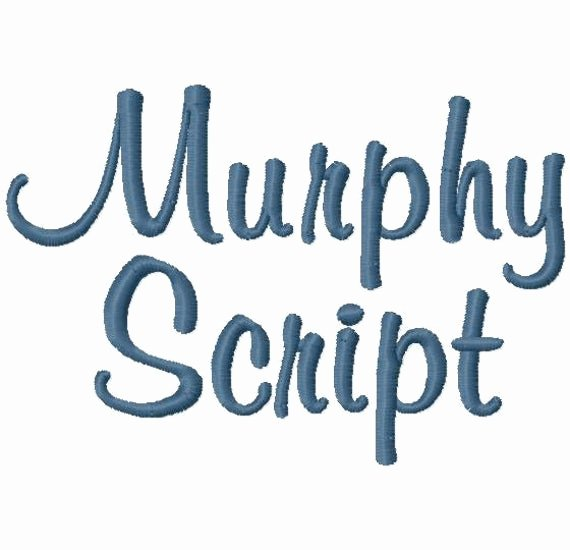 Free Embroidery Monogram Fonts Beautiful Murphy Script Machine Embroidery Font Sizes