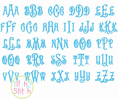 Free Embroidery Monogram Fonts Best Of Carson Monogram Embroidery Font
