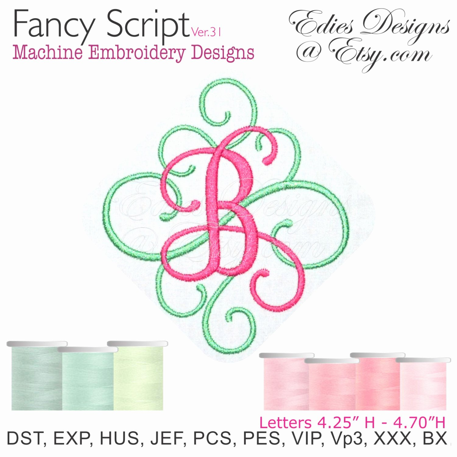 Free Embroidery Monogram Fonts Best Of Fancy Script Ver 31 Monograms Machine Embroidery Designs