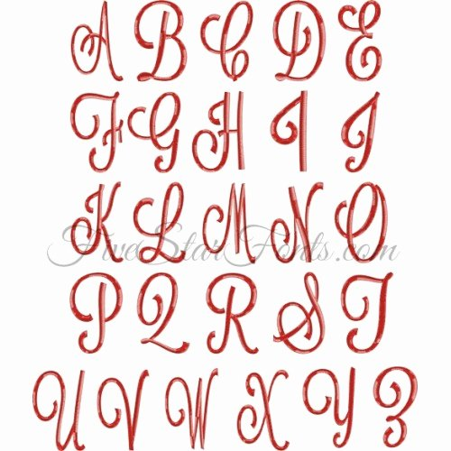 Free Embroidery Monogram Fonts Fresh Ginormous Monogram Embroidery Font