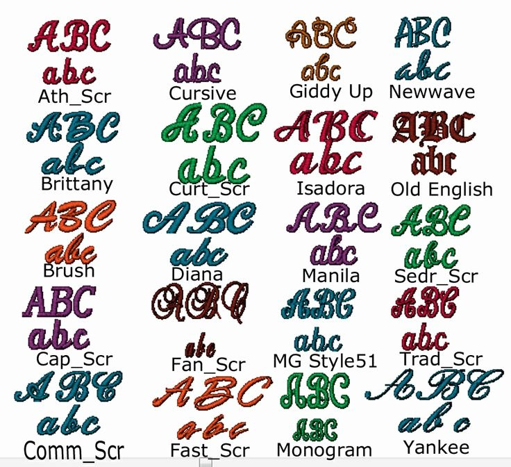 Free Embroidery Monogram Fonts Inspirational Floriani software Cursive Style Fonts Available to