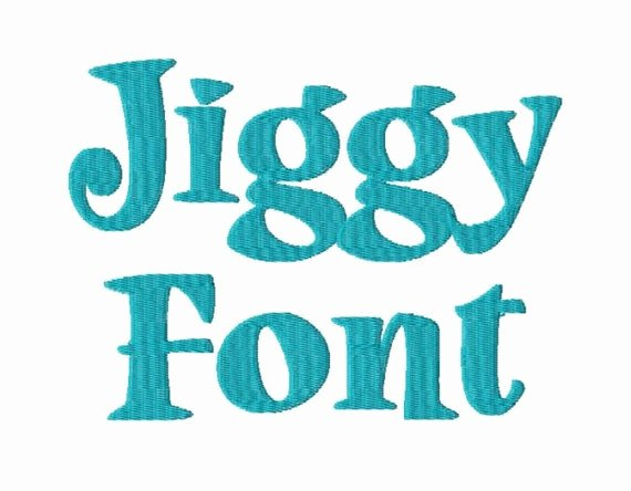 Free Embroidery Monogram Fonts Inspirational Jiggy Machine Embroidery Font Monogram Alphabet 3 Sizes