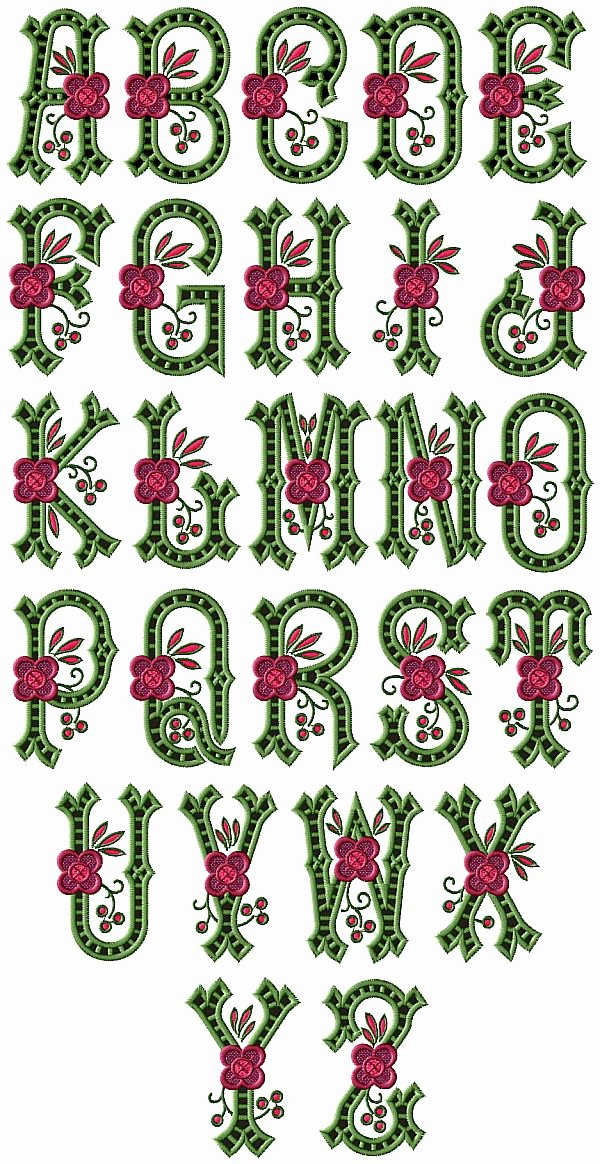 Free Embroidery Monogram Fonts Lovely Embroidery Font Machine Small Embroidery & origami