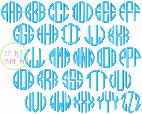 Free Embroidery Monogram Fonts New Natural Circle Monogram Embroidery Font