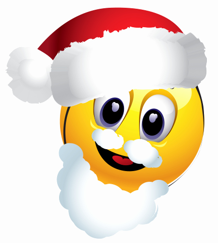 Free Emoji Copy and Paste Elegant Santa Emoticon