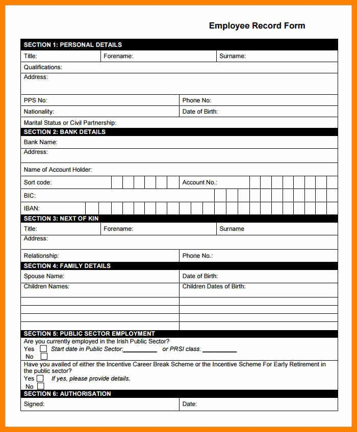 5 payroll records forms