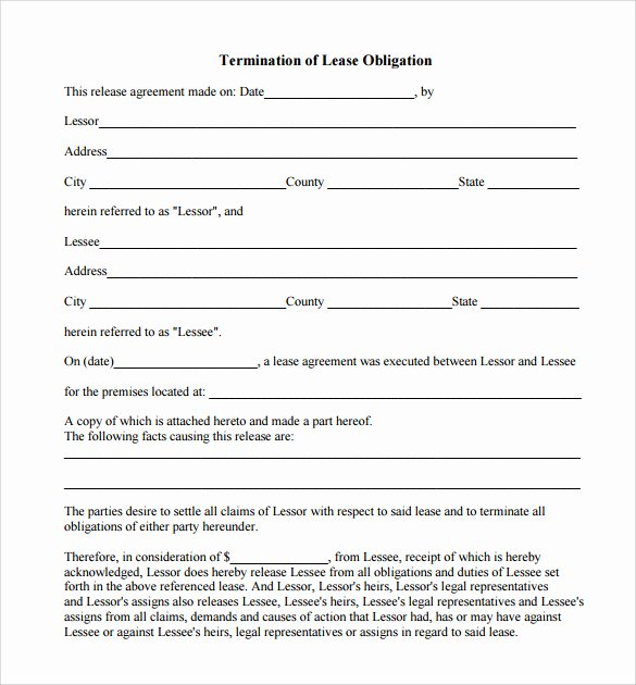 Free Employment Termination forms Awesome Lease Termination Notice