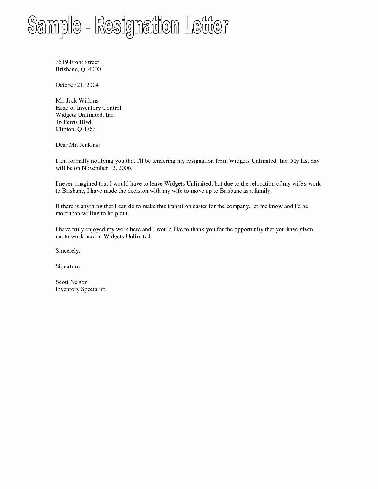 Free Example Of Resignation Letters Best Of Examples Of Resignation Letters Resignation Letter