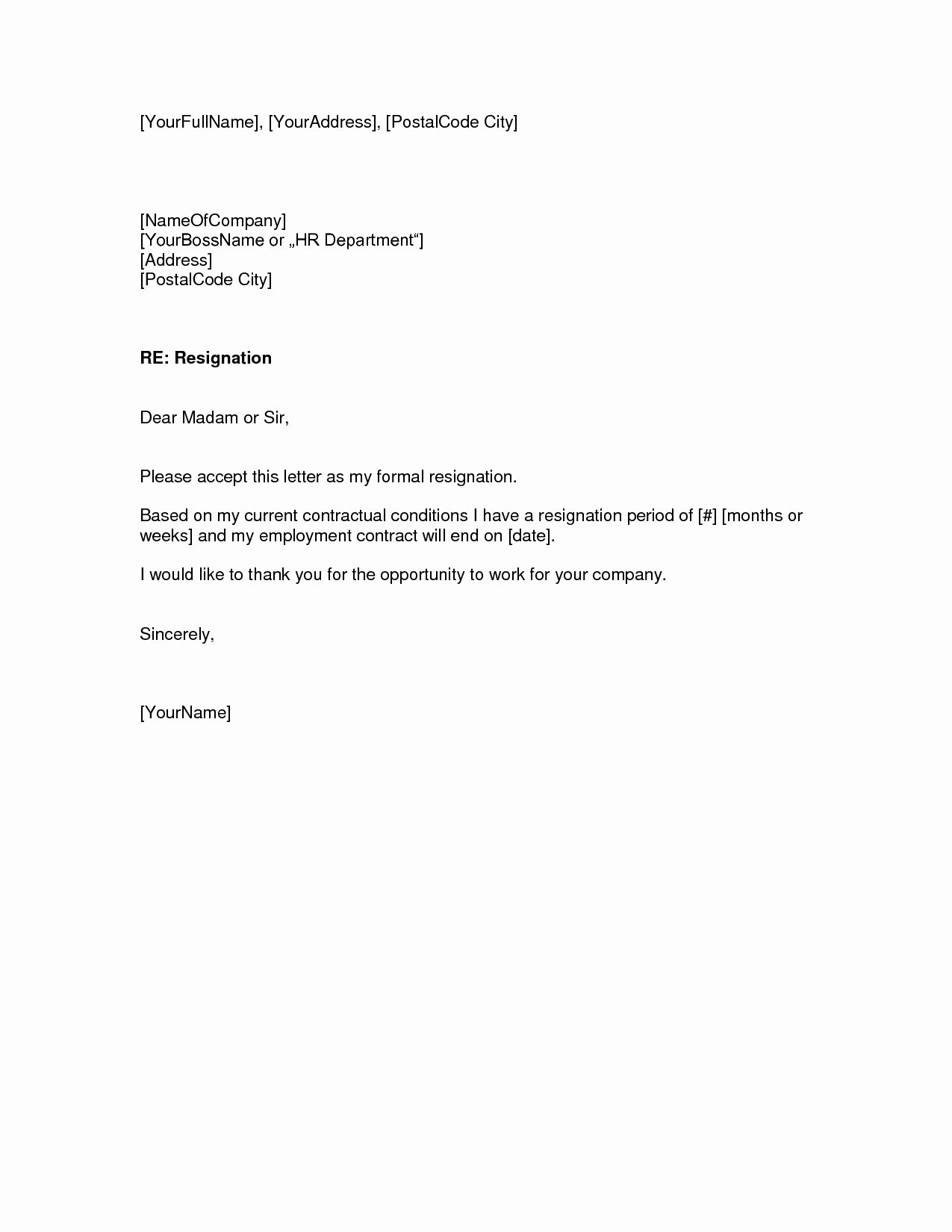 Free Examples Of Resignation Letter Best Of Two Weeks Notice Letter – Download Pdf Doc format