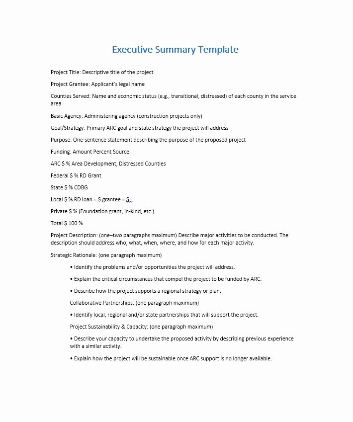 Free Executive Summary Template Elegant 30 Perfect Executive Summary Examples & Templates