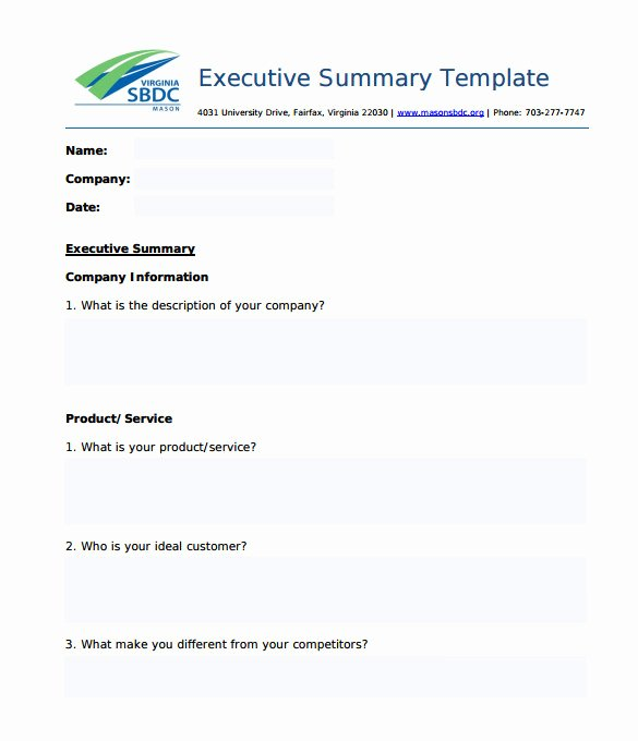 Free Executive Summary Template Lovely 31 Executive Summary Templates Free Sample Example