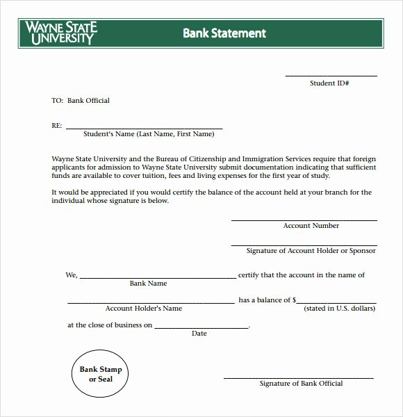 Free Fake Bank Statement Fresh Bank Statement 8 Free Samples Examples format