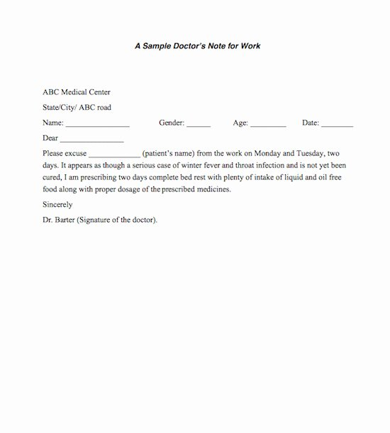 Free Fake Doctors Note Generator Elegant 13 Doctors Note Templates Fake & Excuse Samples