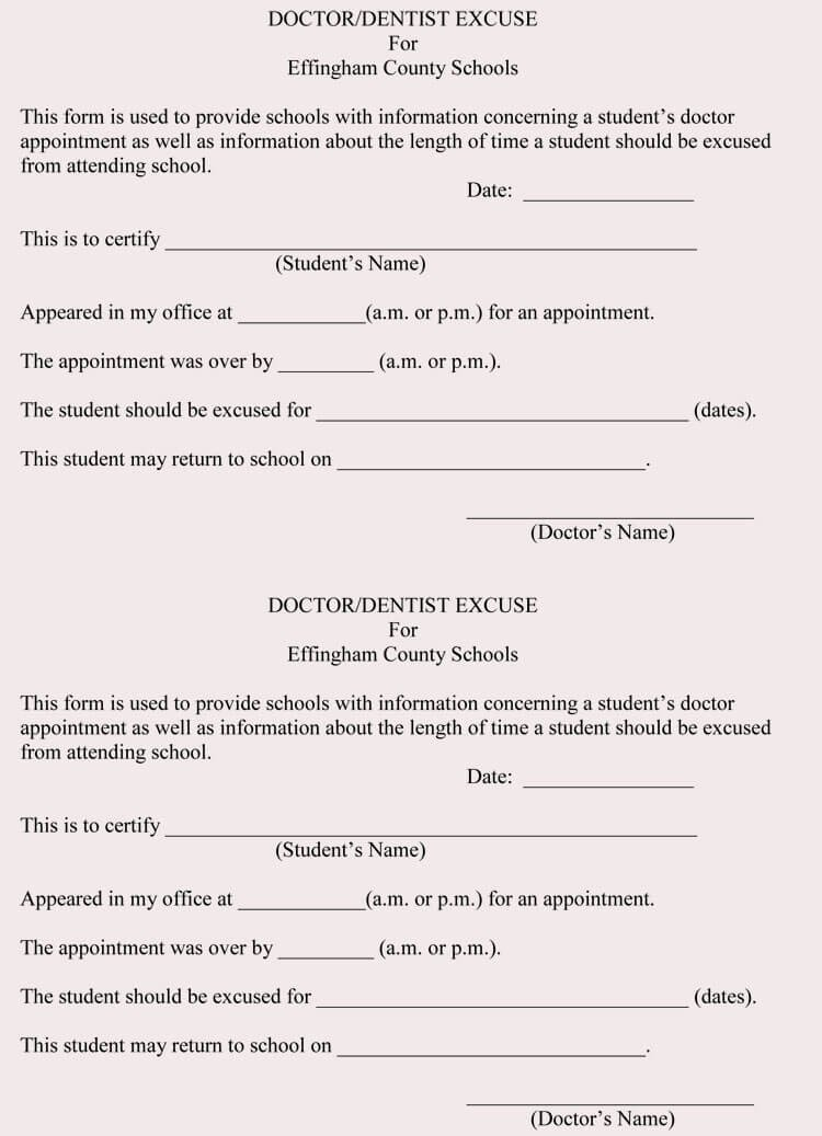 Free Fake Doctors Note Generator New Creating Fake Doctor S Note Excuse Slip 12 Templates