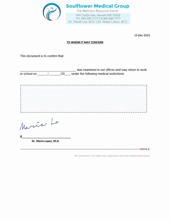 Free Fake Doctors Notes Fresh 40 Fake Doctors Note Template Download [pdf Doc]