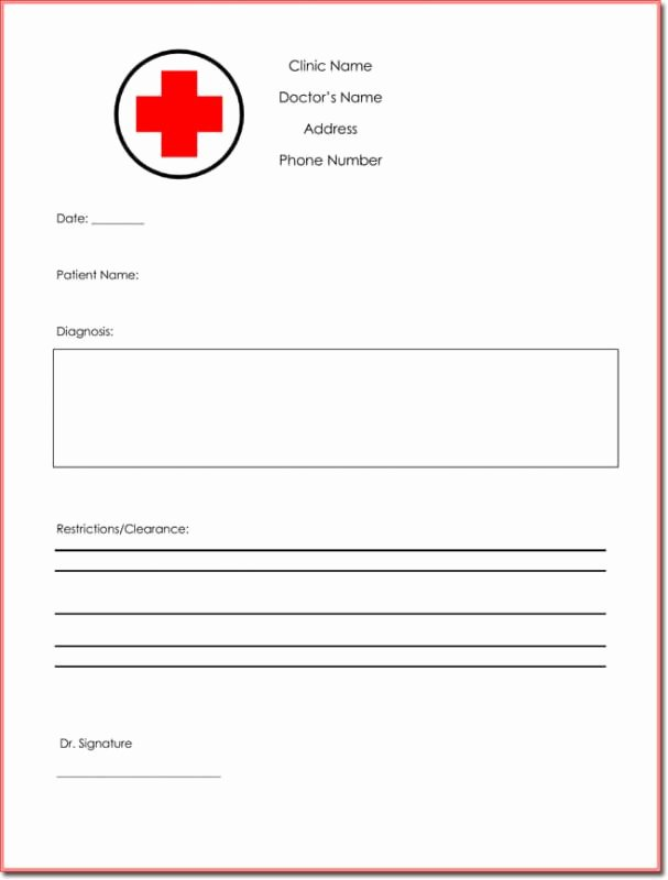 Free Fake Doctors Notes Unique Free Fake Doctors Note Template Download