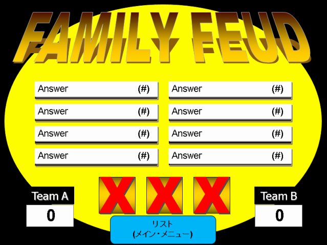 Free Family Feud Templates Awesome Make Your Own Family Feud Game with these Free Templates