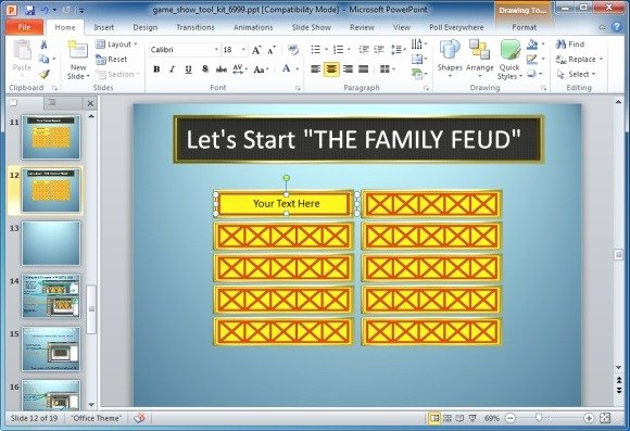 Free Family Feud Templates Best Of Family Feud Game Template