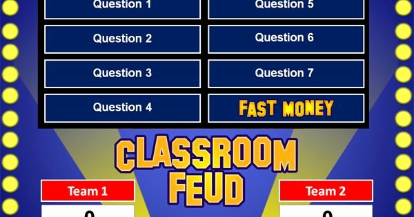 Free Family Feud Templates Elegant Family Feud Powerpoint Game Template