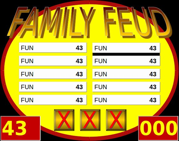 Free Family Feud Templates Fresh 7 Family Feud Powerpoint Templates Ppt Pptx