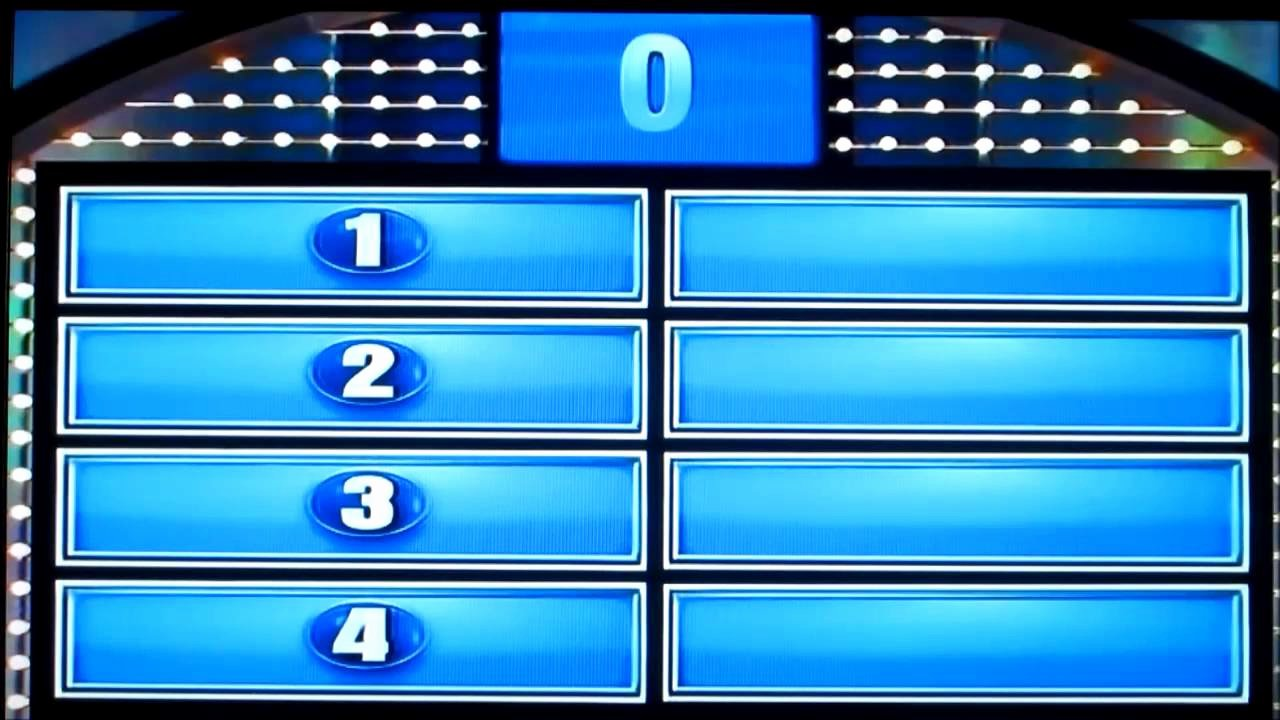 Free Family Feud Templates Inspirational Family Feud Day 1 Part 2 Crowe Family