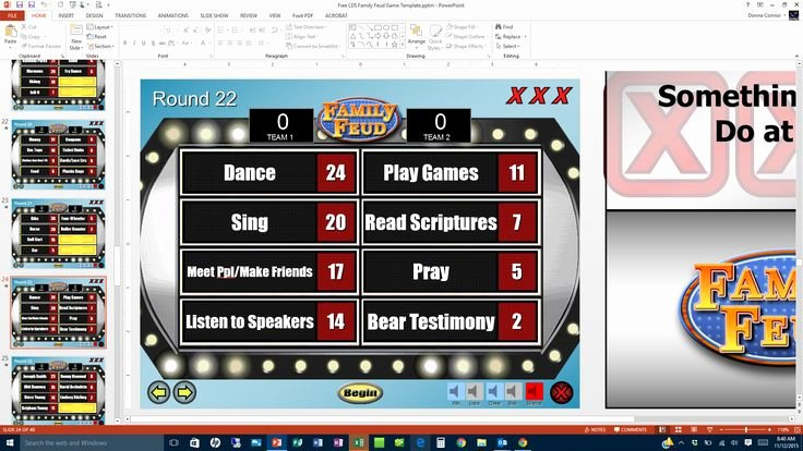 Free Family Feud Templates Inspirational Free Lds Family Feud Game Template Screen Shot