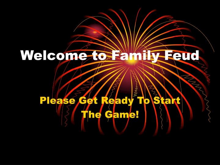 Free Family Feud Templates Inspirational Ppt Wel E to Family Feud Powerpoint Presentation Id