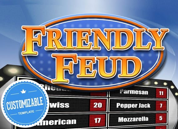Free Family Feud Templates Lovely Customizable Friendly Feud Powerpoint Template Family Feud