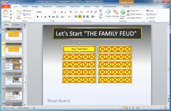 Free Family Feud Templates Luxury Family Feud Powerpoint Template