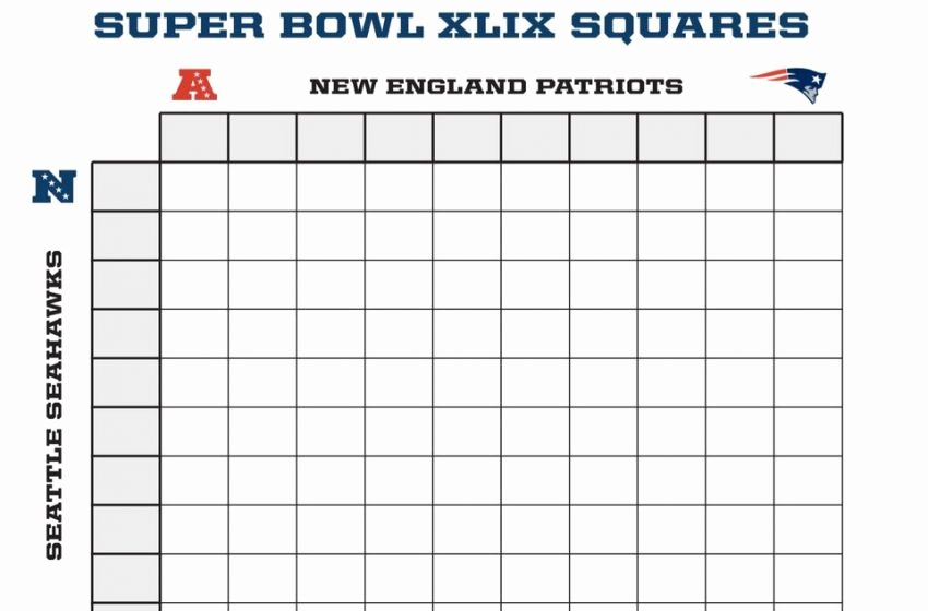 Free Football Pool Template Best Of Super Bowl Squares Template