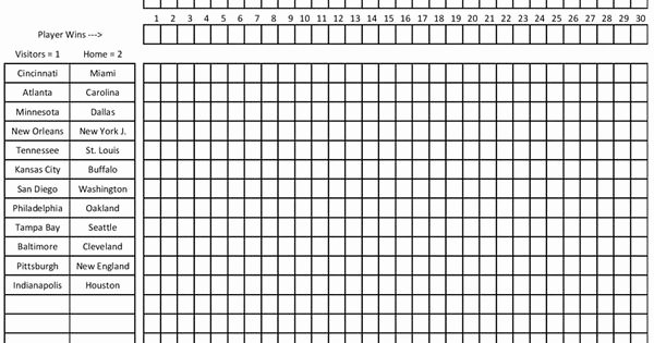Free Football Pool Template Elegant Printable Football Pool Master Sheet Template Spreadsheet