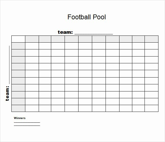Free Football Pool Template Fresh Sample Football Pool 7 Documents In Pdf Word Excel
