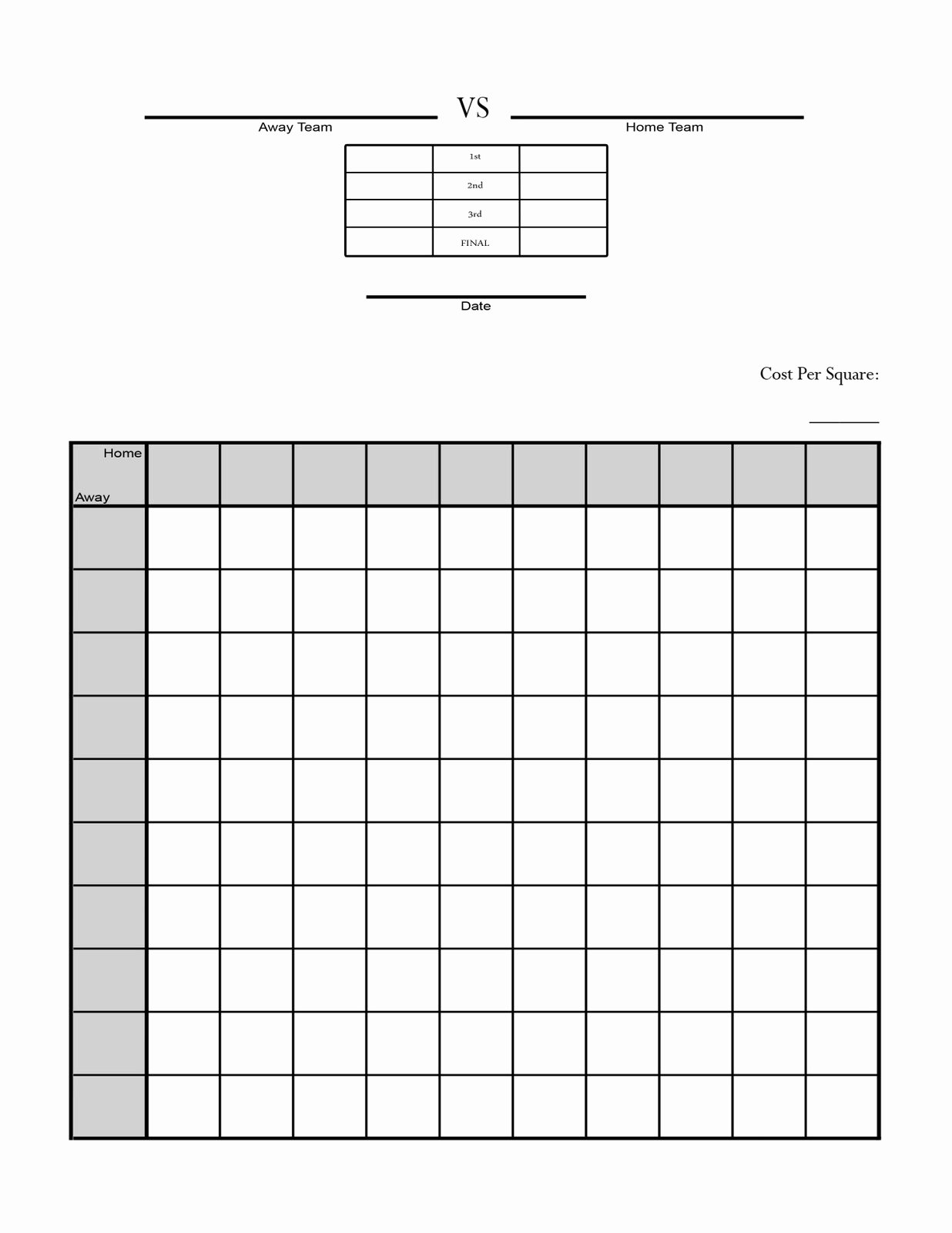 Free Football Pool Template New Printable Football Squares