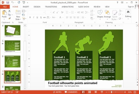 Free Football Powerpoint Template Awesome Animated Football Playbook Powerpoint Template